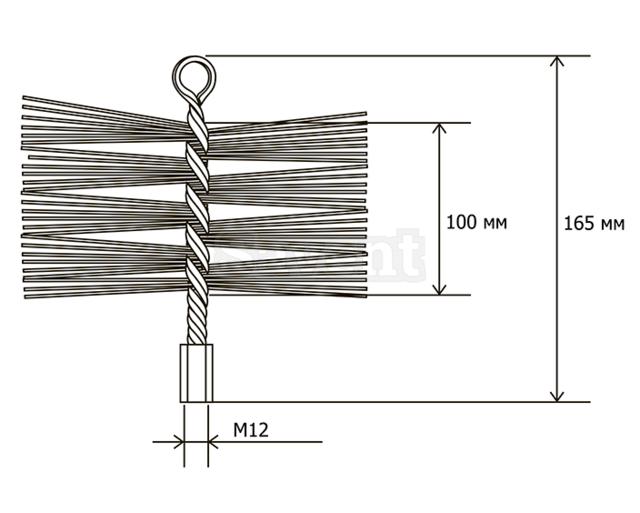 Щетка металлическая для чистки дымохода Savent 110 мм. Фото 8