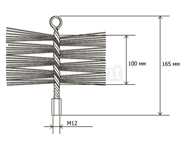 Savent 200 mm metal brush for chimney cleaning. Фото 8