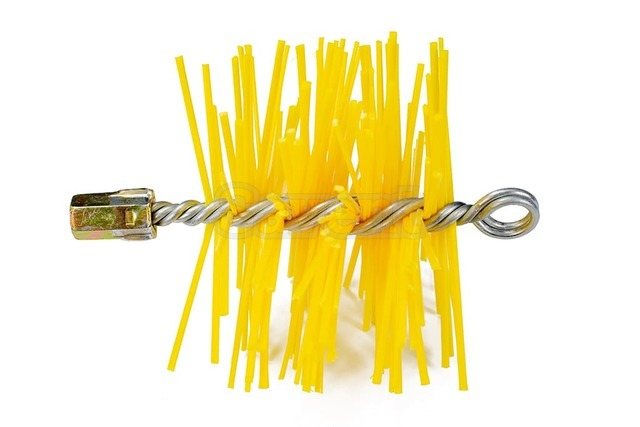 Щетка пластиковая для чистки дымохода Savent 120 мм. Фото 2