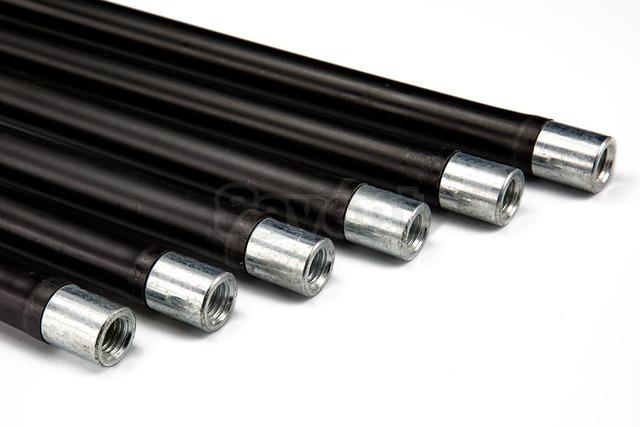 Комплект гнучких ручок (палок) для чищення димоходу Savent 1 м x 6 шт. Фото 2