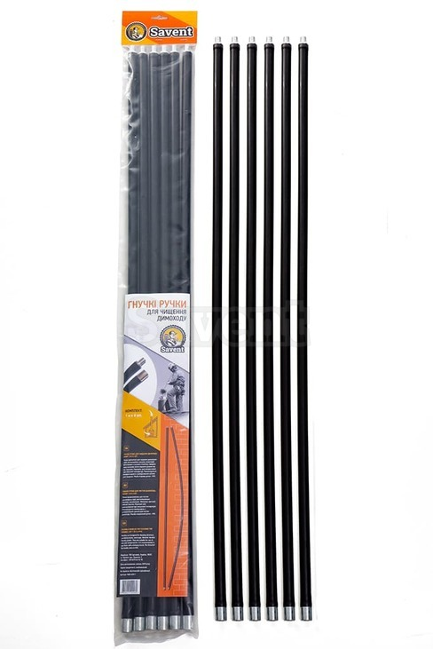 Savent 1 m x 6 pieces kit of flexible rods (sticks) for chimney cleaning. Фото 5