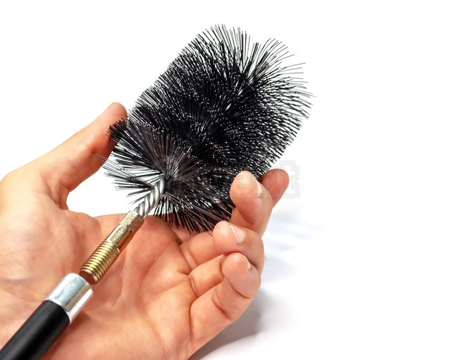 Savent 90 mm metal brush for cleaning boiler heat exchanger and pipes. Фото 5