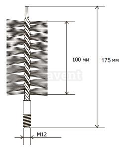 Щітка металева для чищення теплообмінника котлів, труб Savent 90 мм. Фото 7