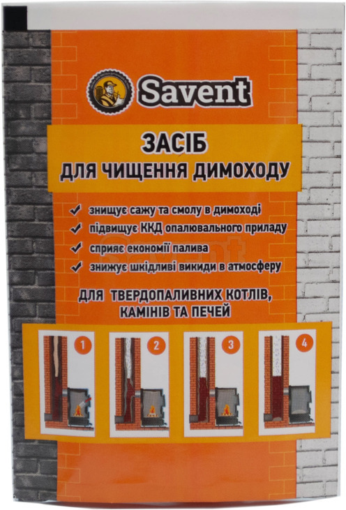 Savent 40 g agent for a non-mechanical cleaning of chimneys