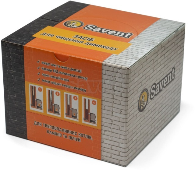 Savent 1 kg (25 pcs x 40 g) agent for a non-mechanical cleaning of chimneys. Фото 4